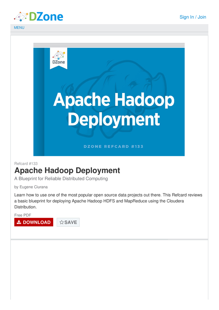 Apache hadoop deployment a blueprint for reliable distributed apache hadoop deployment a blueprint for reliable distributed computing cheat sheet by cheatography download free from cheatography cheatography malvernweather