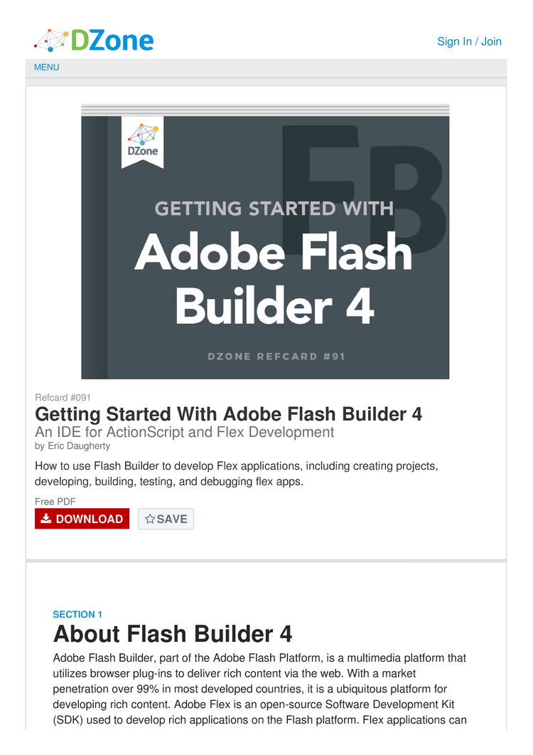 Getting Started with Adobe Flash Builder 4 Cheat Sheet by