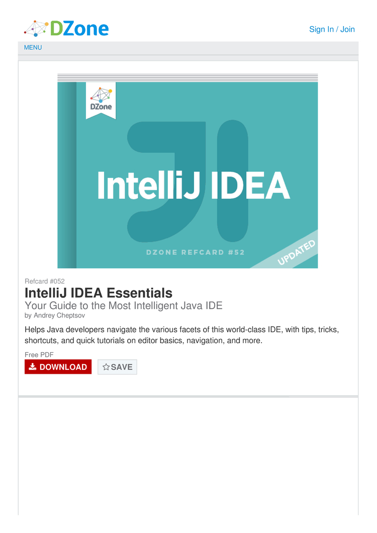 IntelliJ IDEA Cheat Sheet by Cheatography - Download free