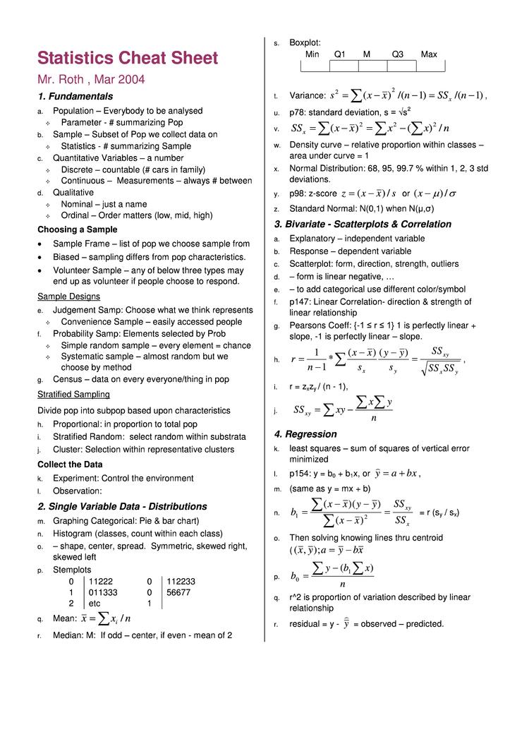 Statistics cheat sheet cheat sheet by cheatography download free statistics cheat sheet cheat sheet by cheatography download free from cheatography cheatography cheat sheets for every occasion biocorpaavc