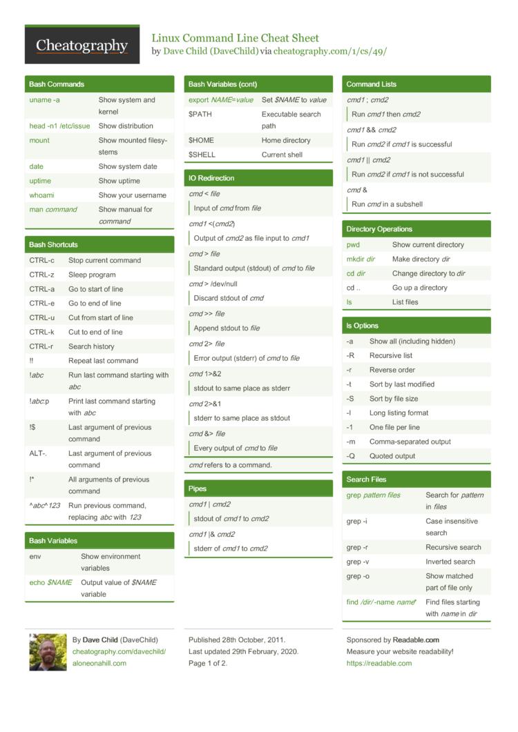 Commands in mac terminal
