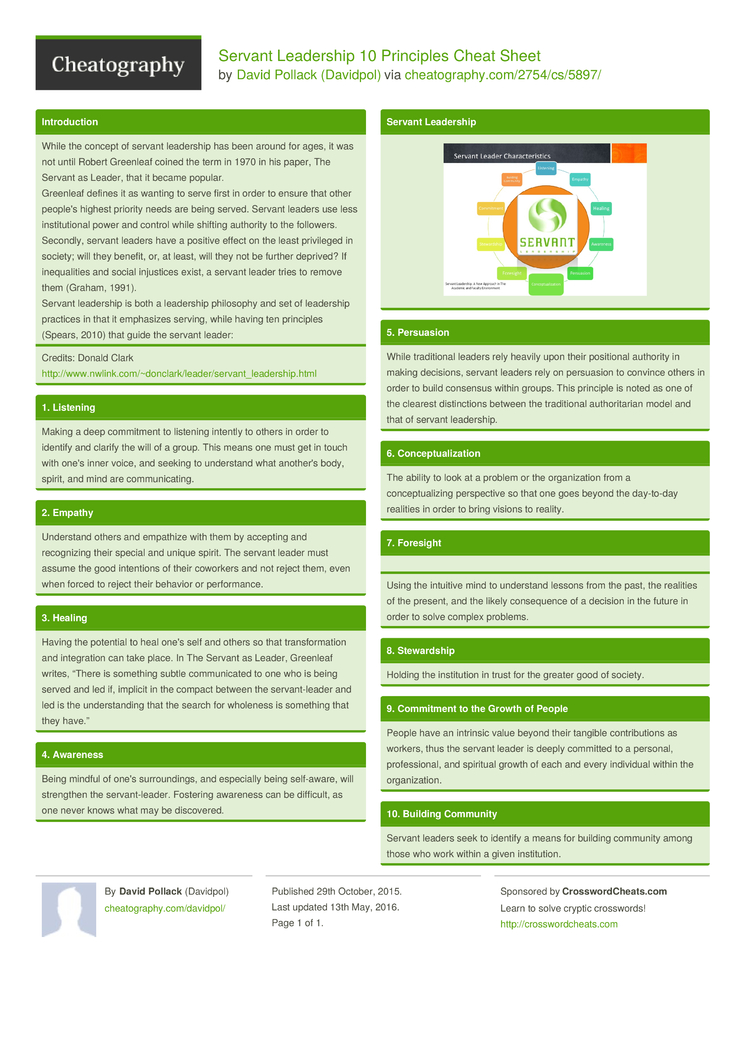 essentials of servant leadership essay