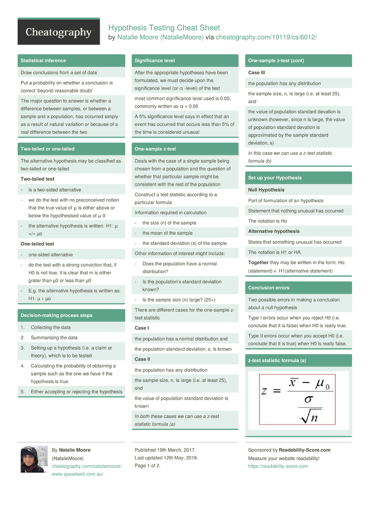 Hypothesis testing cheat sheet by nataliemoore download free download the hypothesis testing cheat sheet biocorpaavc