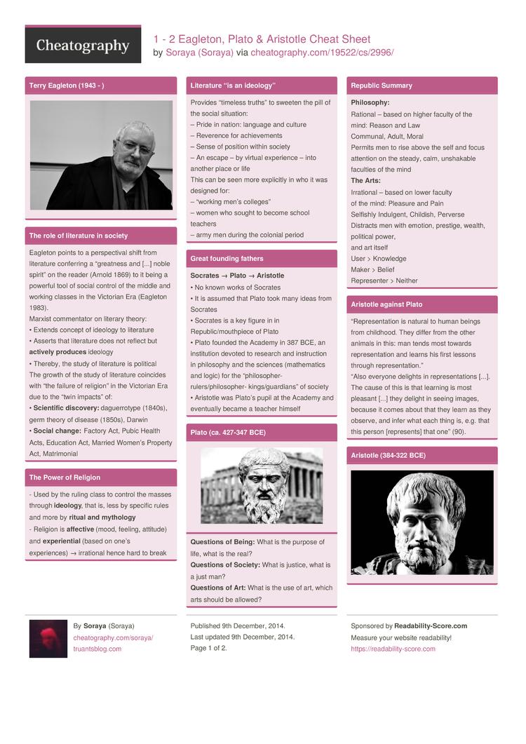 aristotle and plato 2 essay